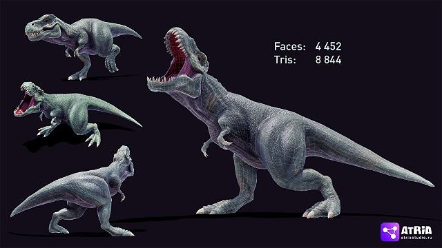 T. Rex оптимизированный для компьютерной игры.
